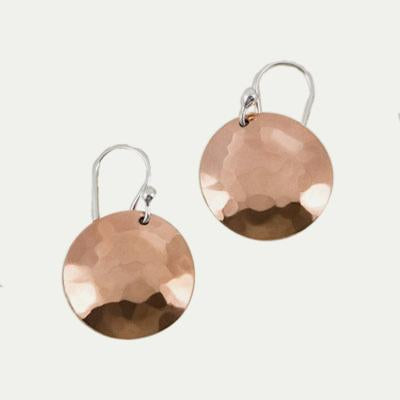 Hammered Copper Rounds, 12mm