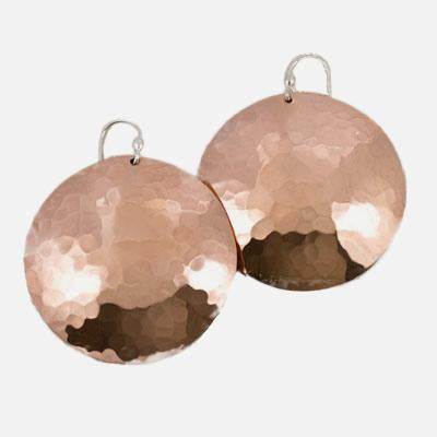 Hammered Copper Rounds, 32mm