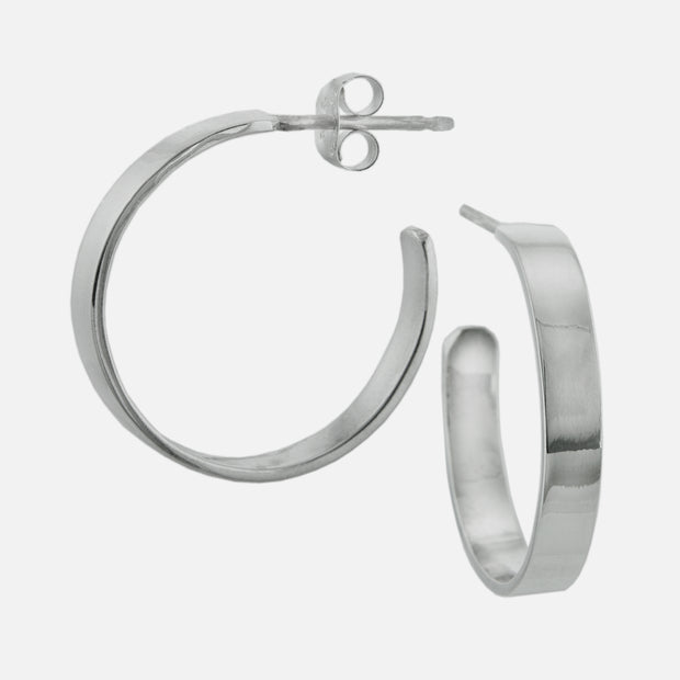 Sterling Silver Hoops - Everyday Flatware, 21 mm