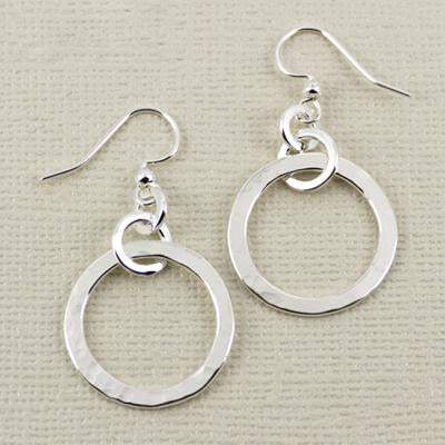 Entwined Circles Earwire, 20mm