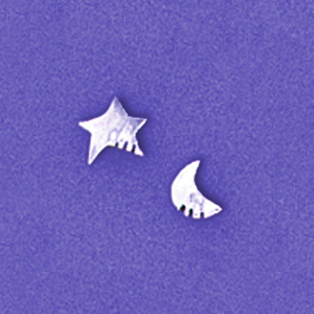 Litho Star And Moon Sterling Post