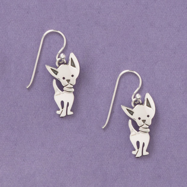 Cheeky Chihuahua Sterling Earwire