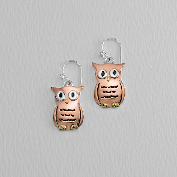 Owl Wire Earrings