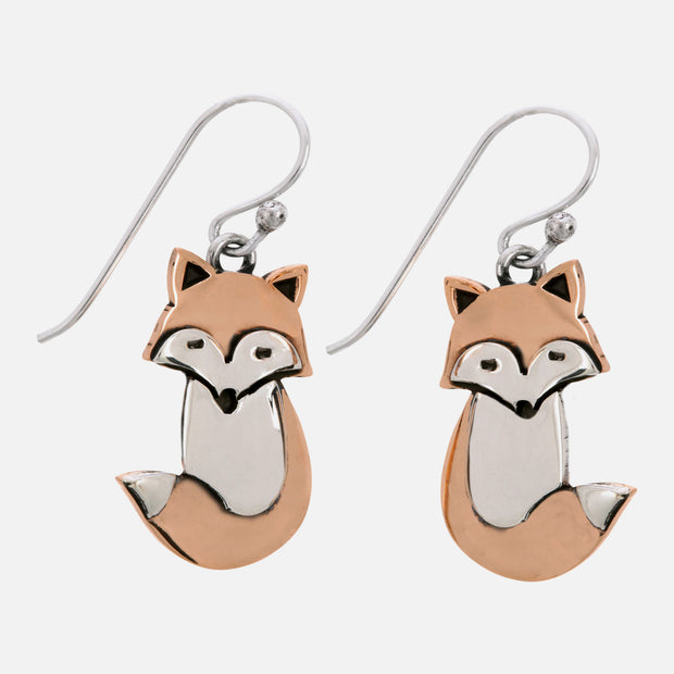 Flame The Fox Sterling Earwire