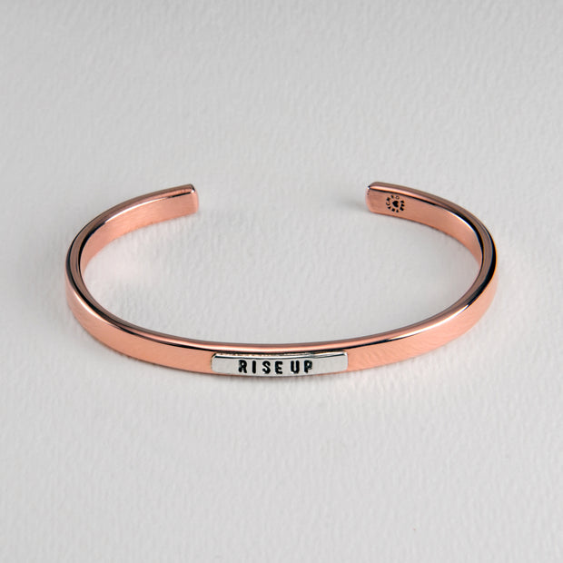 Rise Up Copper and Sterling Cuff