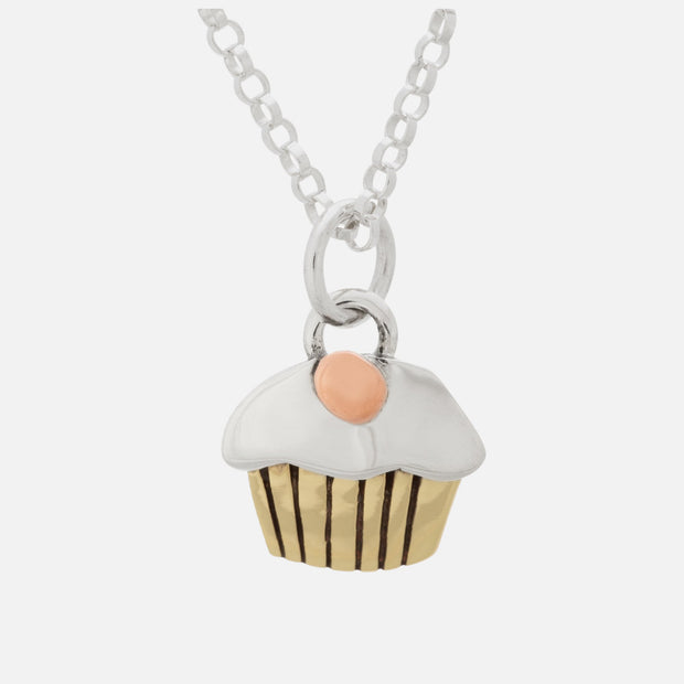 Tiny Cupcake  Necklace