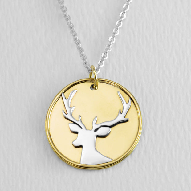Stately Stag Necklace