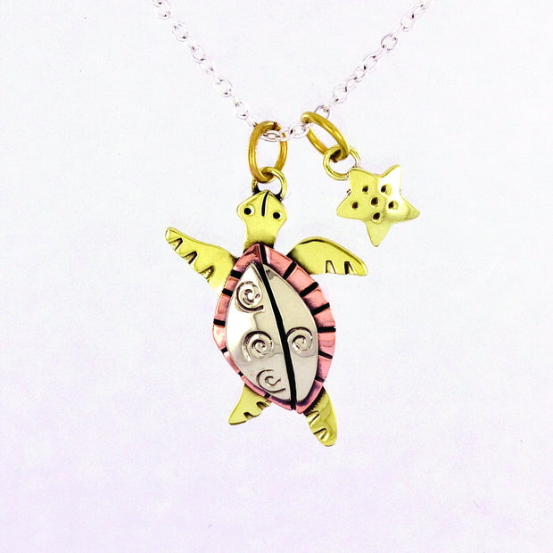 Swirl Turtle Necklace