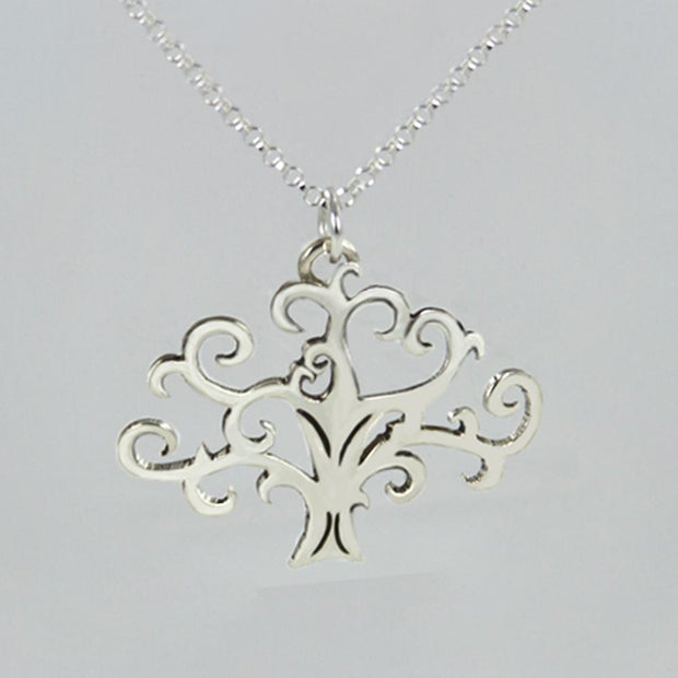 Scroll Tree Necklace