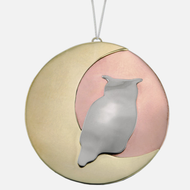 Moonbeam Owl Ornament Charm