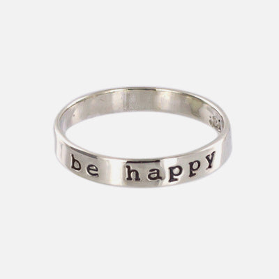 Be Happy Sterling Ring