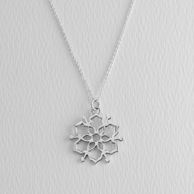 Moroccan Mandala Sterling Necklace