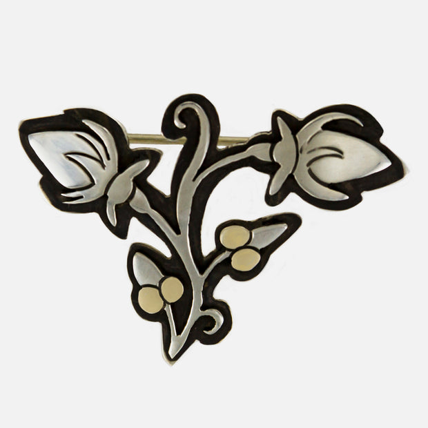 Matilda Flor Sterling Brooch Pin