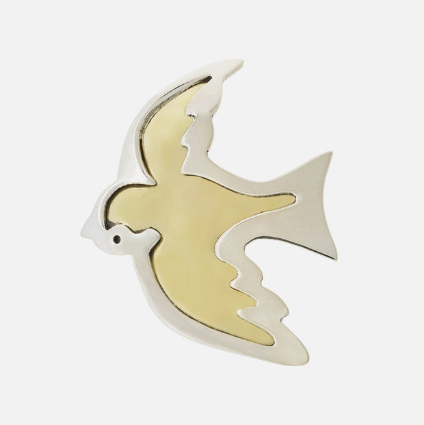 Taking Flight Sterling Brooch Pin