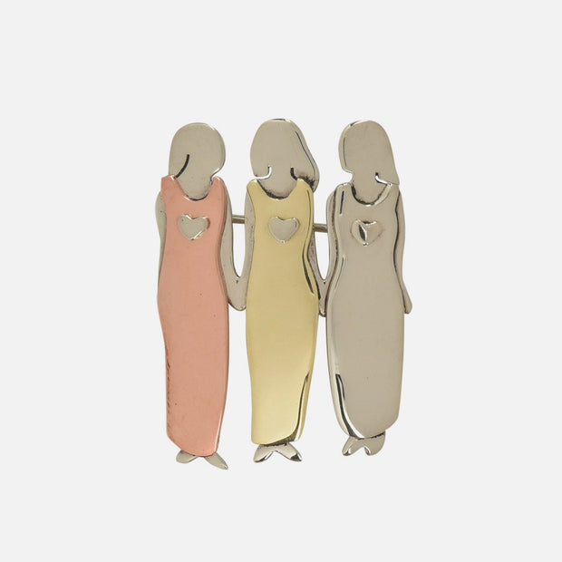 My Three Beautiful Sisters Brooch Pin