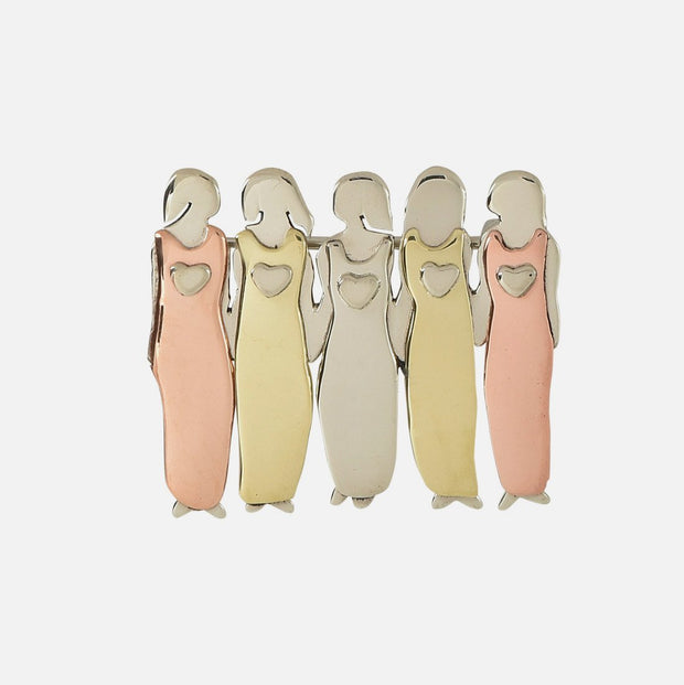 My Five Beautiful Sisters Brooch Pin