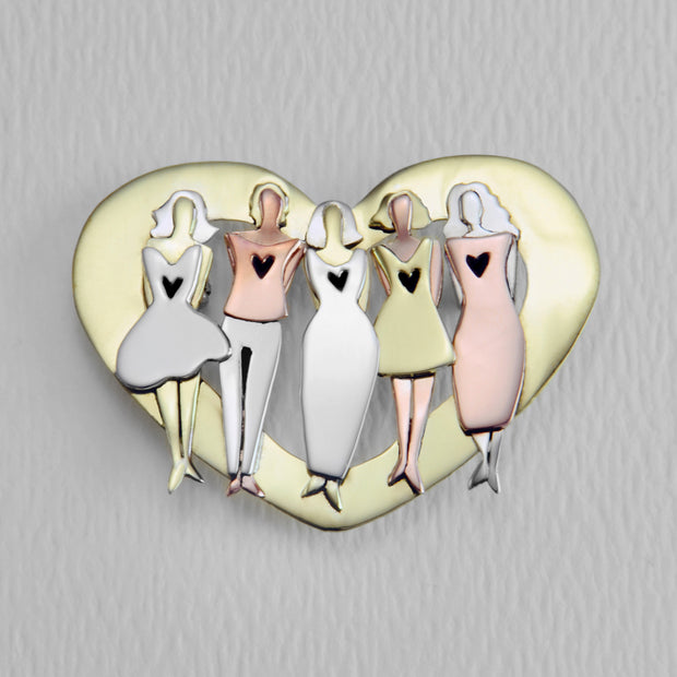 My Five Soul Sisters Of Love Brooch Pin