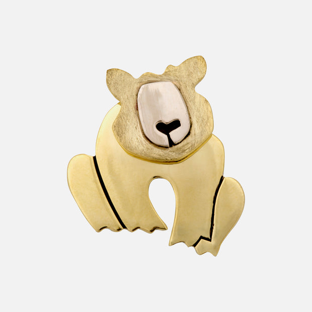 Dancing Bear Brooch Pin