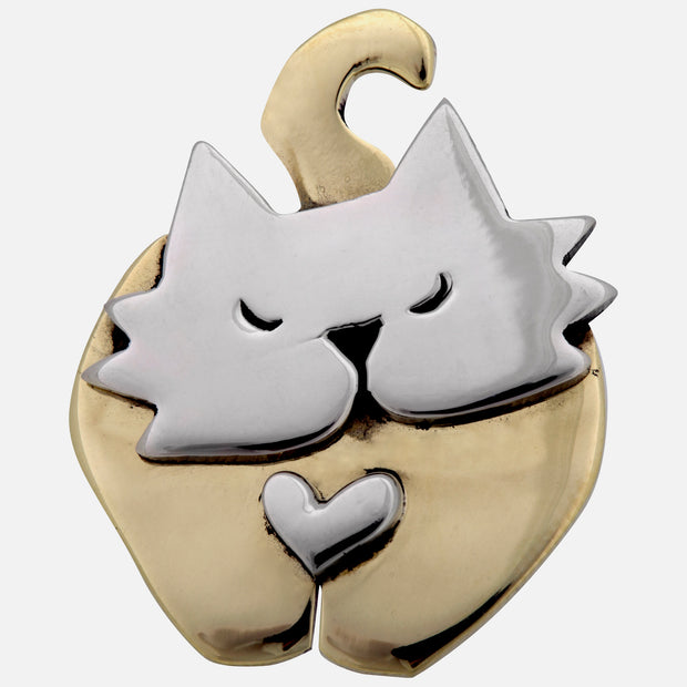 Dancing Cat Brooch Pin