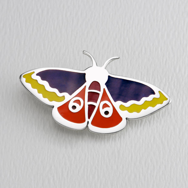 Atlas Moth Brooch Pin in Full Color