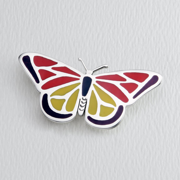Monarch Butterfly Brooch Pin in Full Color