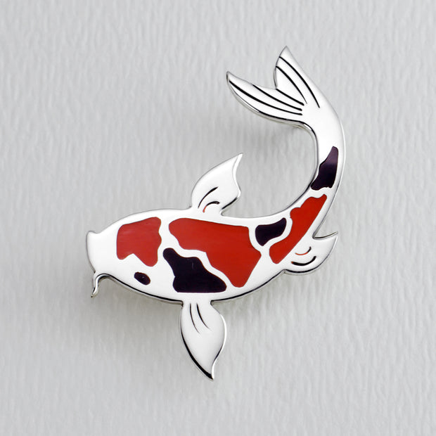Koi Full Color Brooch Pin