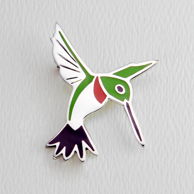 Hummingbird Full Color Brooch Pin