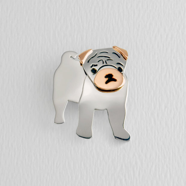 Pug Brooch Pin