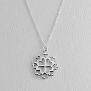 Love Mandala Sterling Necklace