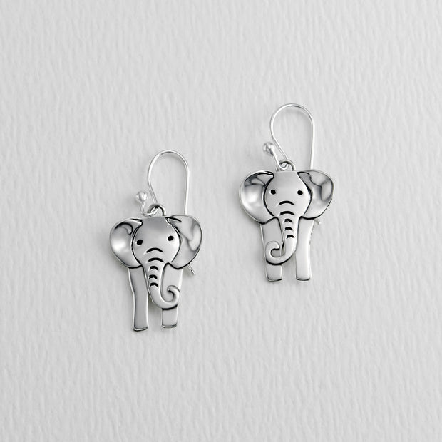 Elephant Wire Earrings