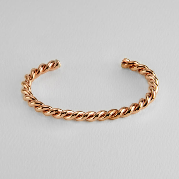 All Twisted Up Copper Cuff, Stout