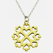 Love Mandala Brass Necklace