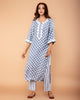 GREY POLKA DOT PRINTED COTTON SILK KURTA SET OF 3