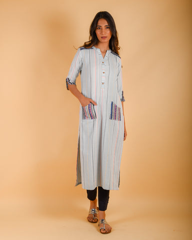 Cotton Kurti with pocket (M-104)