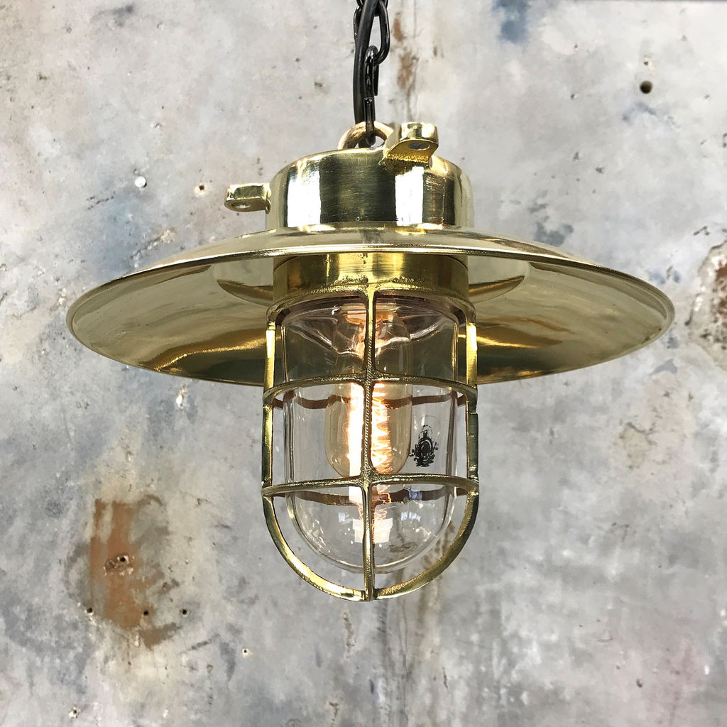 vintage industrial lighting with protective metal cage