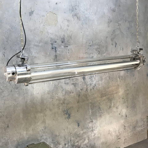 Vintage Industrial Tube Light with Glass Tube