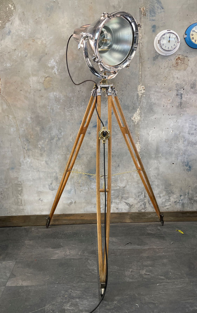 Mid Century Industrial British Watts Tripod Floor Lamp