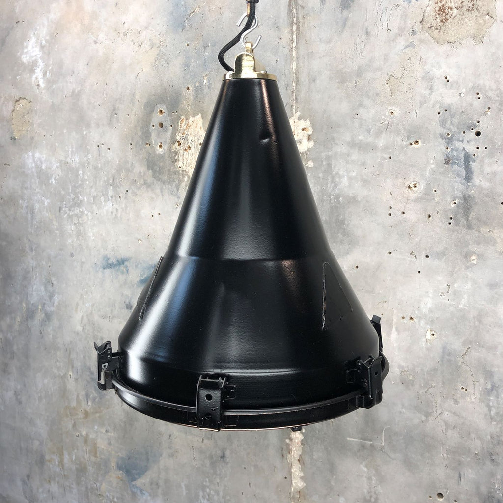 Black Conical Rustic Ceiling Light by Daeyang