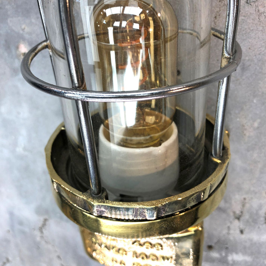 TEF Brass Cage Wall Light