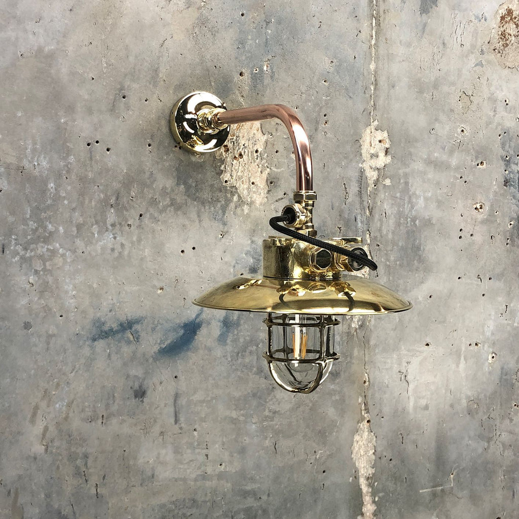 Brass & Copper Explosion Proof Cantilever Wall Light