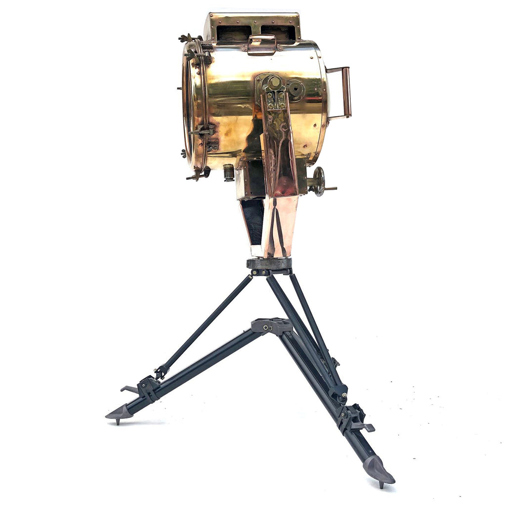 Koito Copper & Brass Searchlight with British MOD Tripod