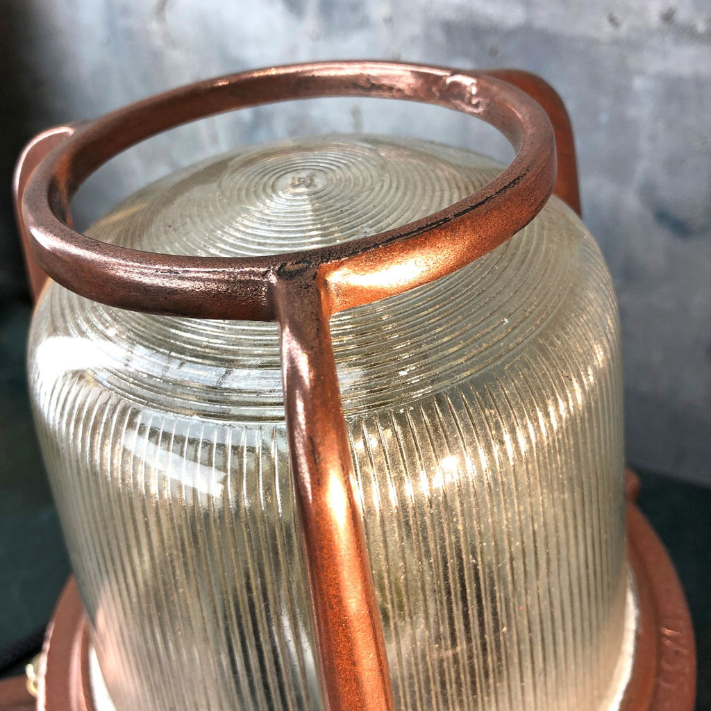 1970's Copper and Brass Table Lamp by EOW