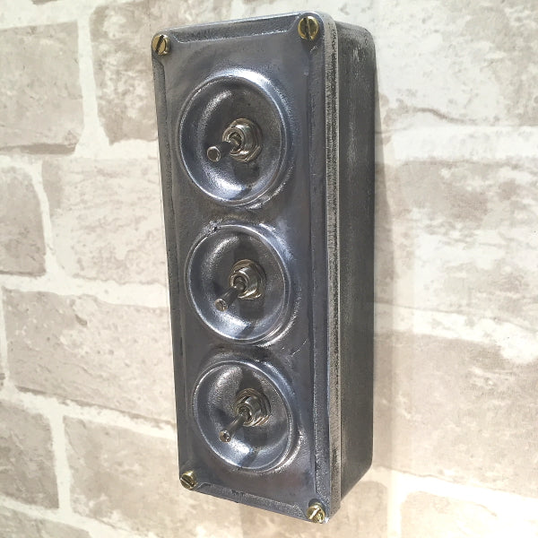 3 gang industrial light switch