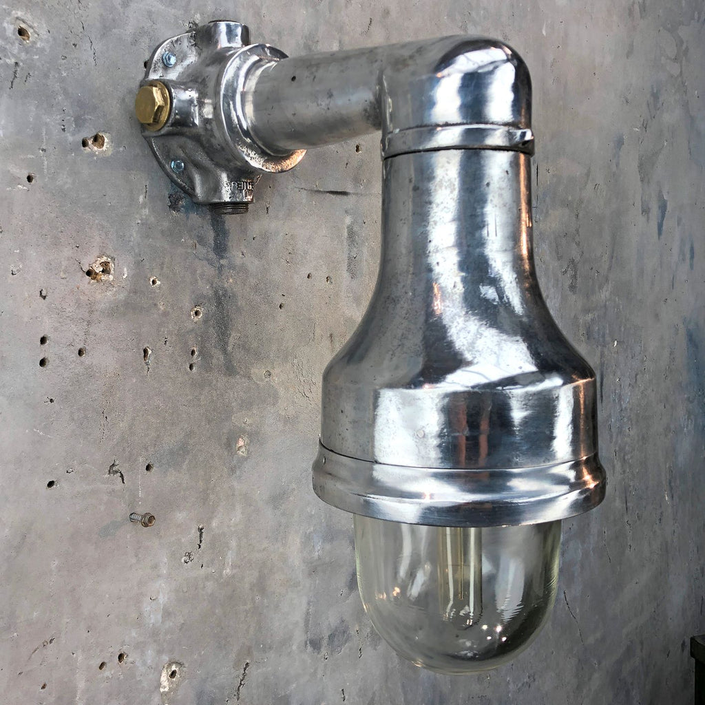 Reclaimed industrial style explosion proof aluminium outdoor wall light