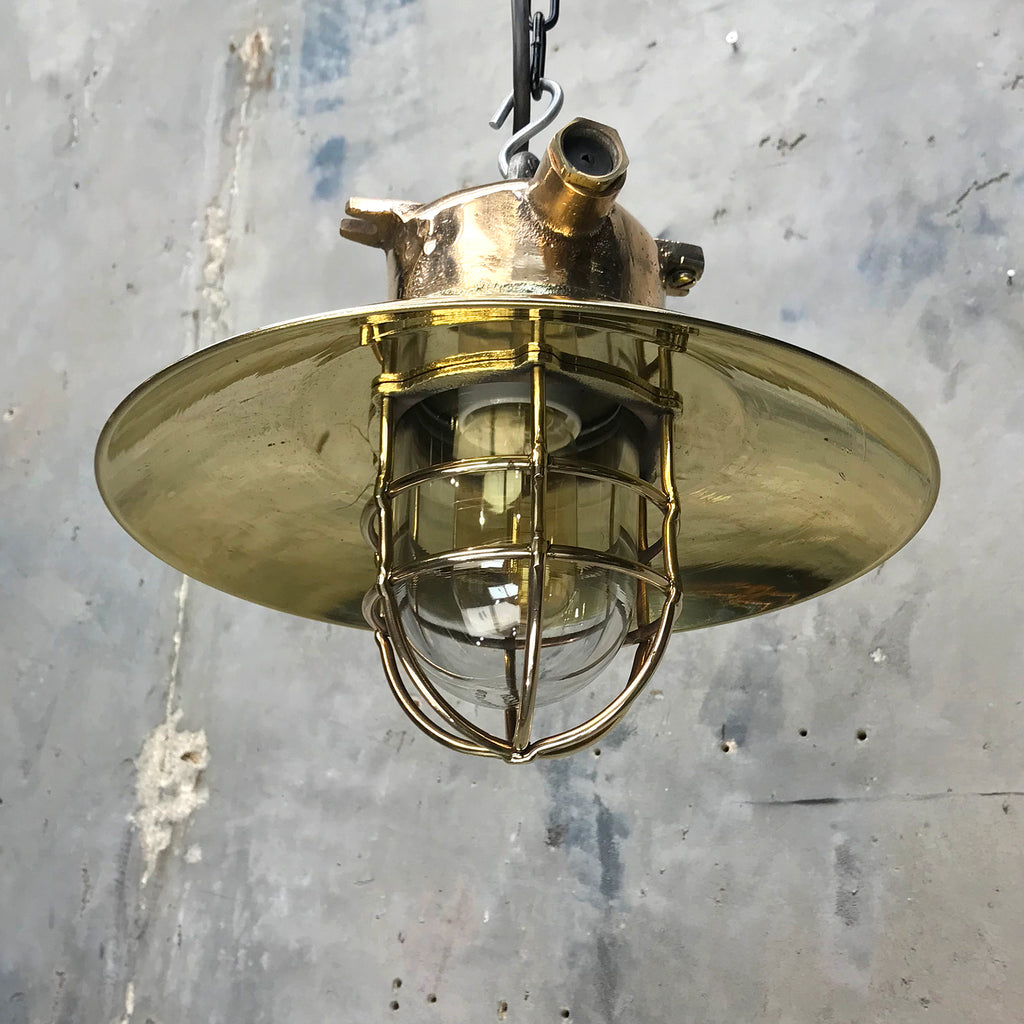 Explosion Proof Bronze & Brass Cage Light