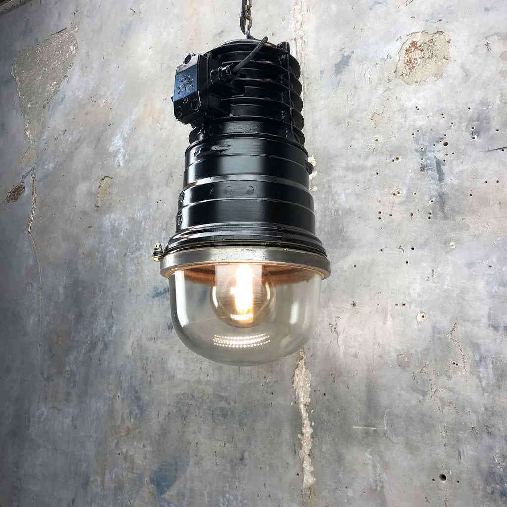Black Vintage Industrial Ceiling Pendant by EOW