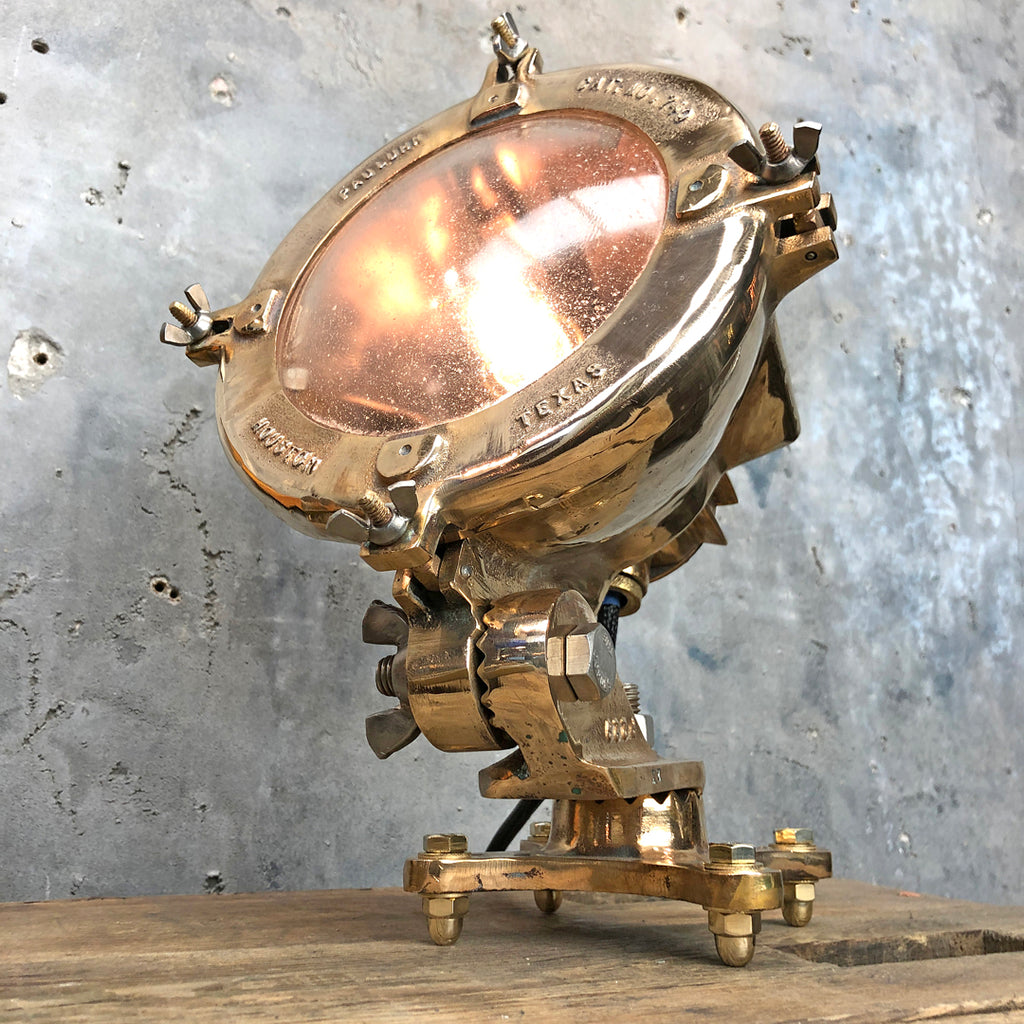 Mid Century Cast Bronze Table Lamp by Pauluhn