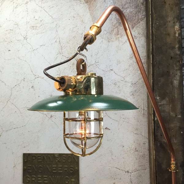 Industrial Cantilever Wall Pendant - Green Shade
