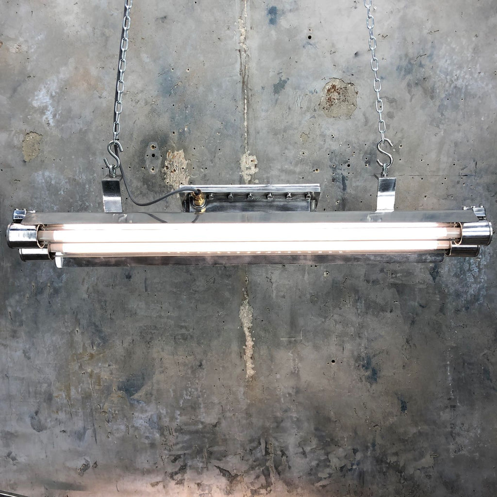 Reclaimed Pauluhn Flameproof LED Tube Ceiling Strip Light by Crouse Hinds