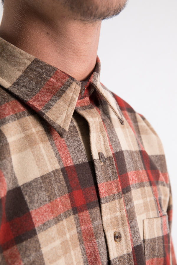 LNLA x Pendleton Plaid Shirt - Tan/Red